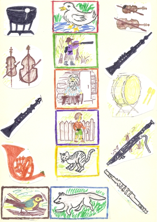 Соедини линиями звуковые схемы слов с рисунками предметов - c2